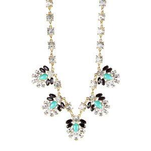 Minty tear drops necklace